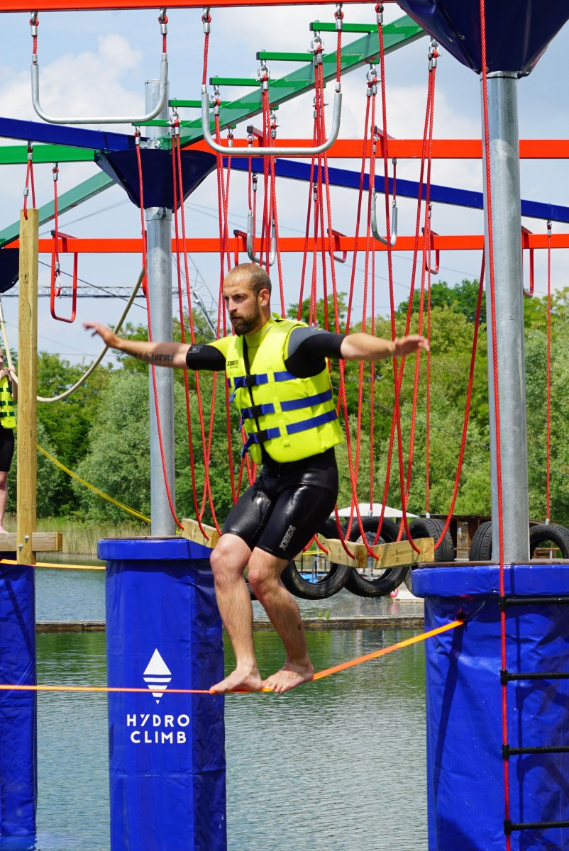 hydroclimb rope courses above water